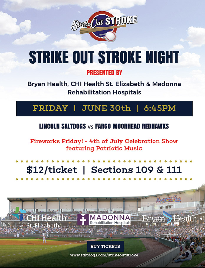 Strike Out Stroke Night is Friday, June 30