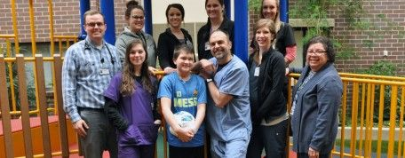 12-year-old soccer player reaches goal to return home after brain injury