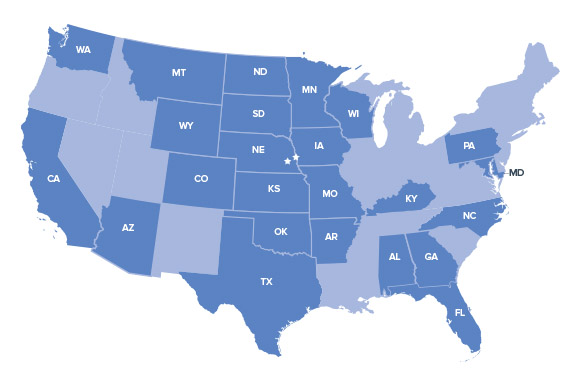 Madonna Rehabilitation Hospitals served inpatients from 24 states.